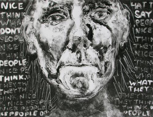Nice People Do Not Say What They Think, monotype 30 cm x 40 cm 2006